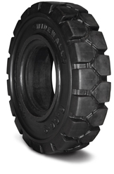 Wide wall solid tires