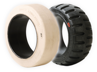 Press-On Cushion Series solid rubber tires